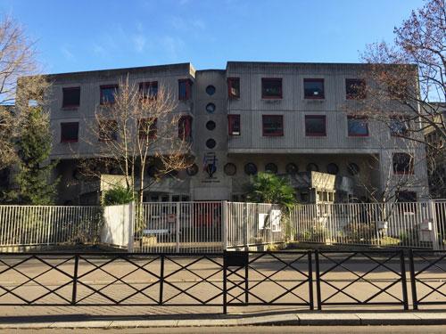 Le collège Germaine Tillion - La façade avant