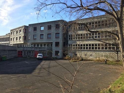 Le collège Germaine Tillion - La façade arrière