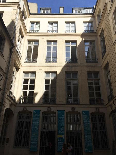 Hôtel particulier Rue des Déchargeurs : la façade sur la cour