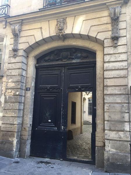 Hôtel particulier Rue des Déchargeurs : le portail