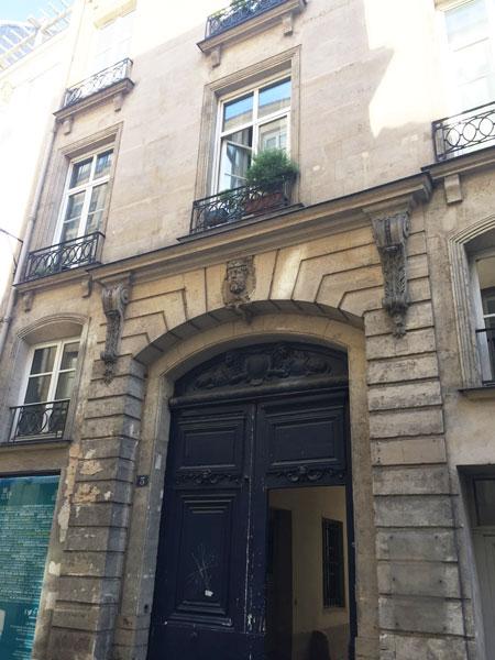 Hôtel particulier Rue des Déchargeurs : la façade sur la rue
