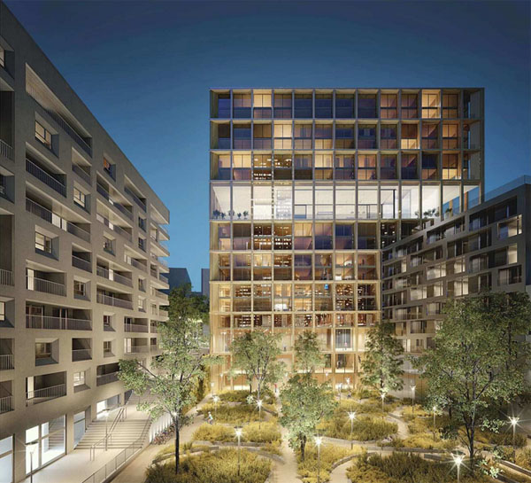 L'immeuble Wood'up