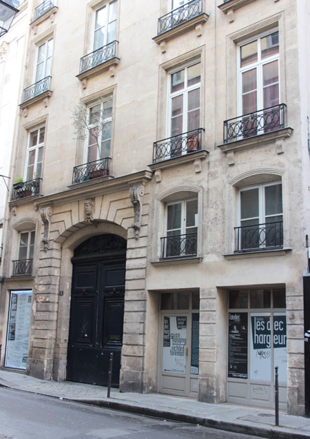 Hôtel particulier Rue des Déchargeurs : la façade sur rue