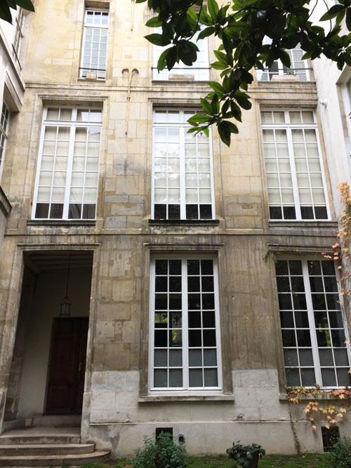 L'hôtel du Tillet : le logis en fond de cour