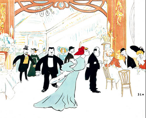 Le restaurant Maxim's - Illustration ancienne