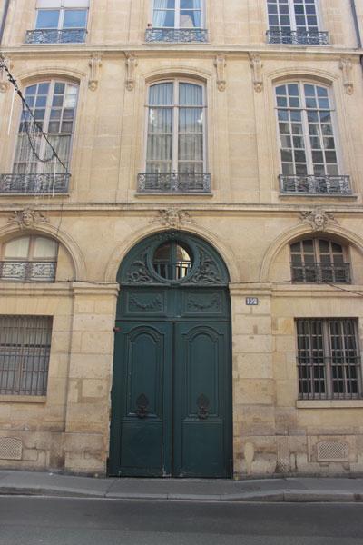 L'hôtel de Sainte-Aldegonde : le portail