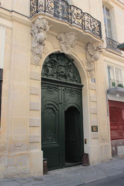 L'hôtel de Chenizot - Le portail