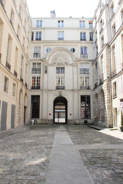L'hôtel de Chenizot - La façade sur cour