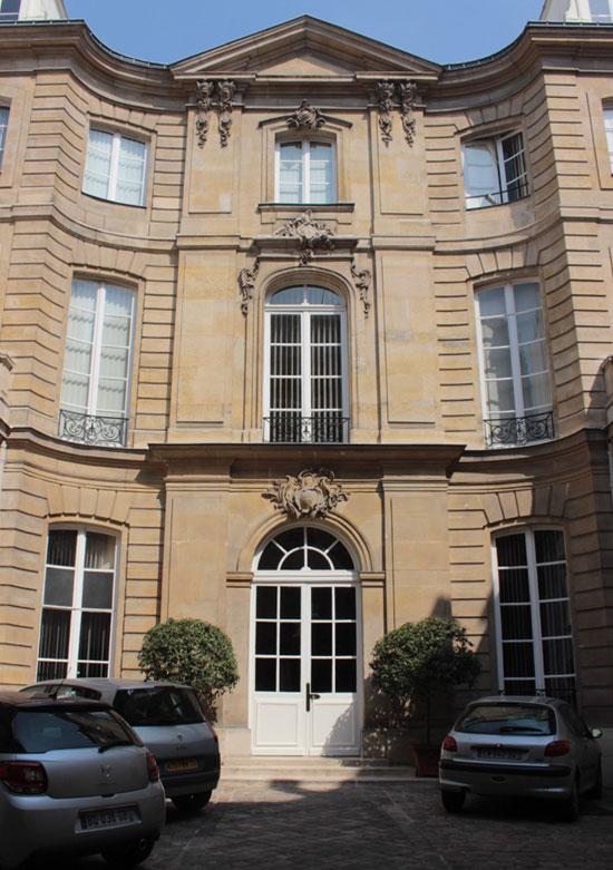 La façade sur cour de l'hôtel de Marcilly