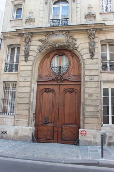 L'hôtel de Marcilly : le portail