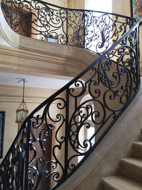 L'hôtel de Marcilly : la rampe de l'escalier d'honneur