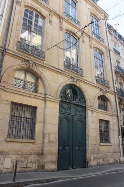 L'hôtel de Sainte-Aldegonde : la façade sur rue
