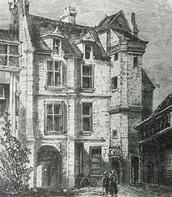 La maison du n°19 rue des Gobelins au XVIIIe siècle : la façade sur cour