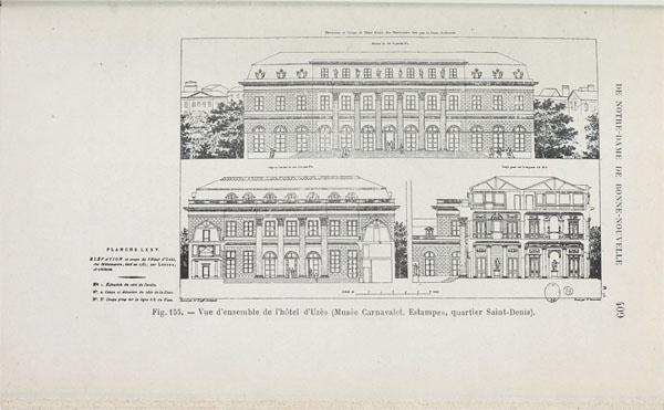 Elévation et coupe de l'hôtel d'Uzès, bâti en 1767 par Claude-Nicolas Ledoux