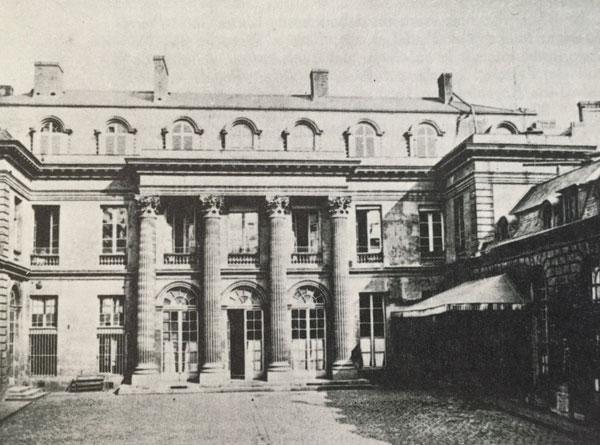 L'hôtel d'Uzès : façade sur cour