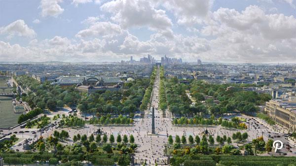 Projet de végétalisation de la place de la Concorde et de l'avenue des Champs-Elyées