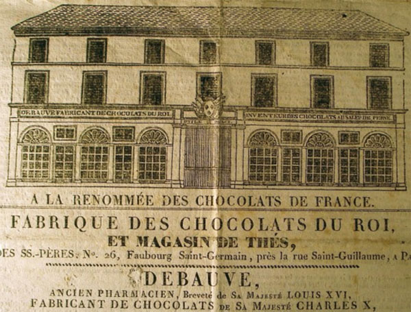 Publicité pour la boutique Debauve & Gallais