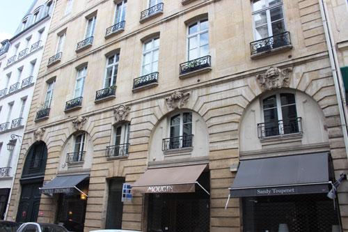 L'immeuble locatif des Théatins : la façade sur rue