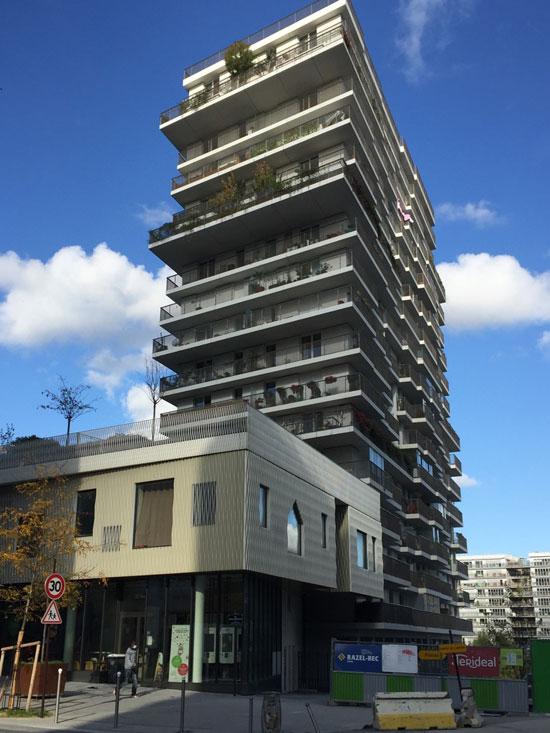 Logements Groupe scolaire et Centre sportif Rue Rostropovitch : le plot de logements n°2