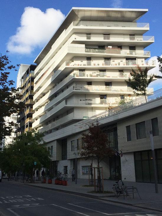 Logements Groupe scolaire et Centre sportif Rue Rostropovitch : le plot de logements n°1