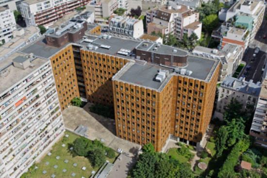 Immeuble de bureaux rue Clisson : le bâtiment d'origine construit par Maurice Novarina
