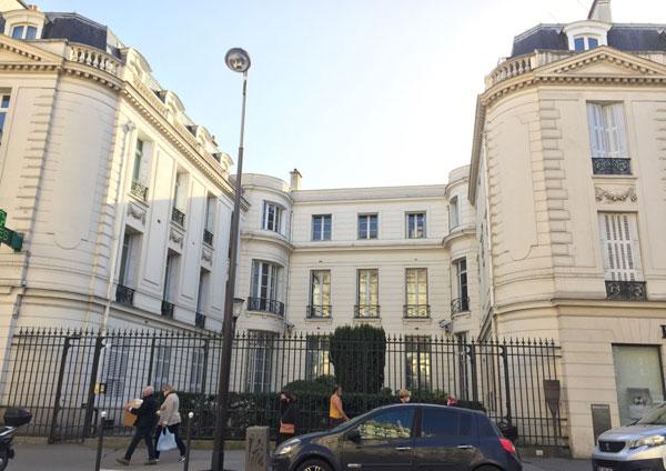L'hôtel Antier : la façade sur cour