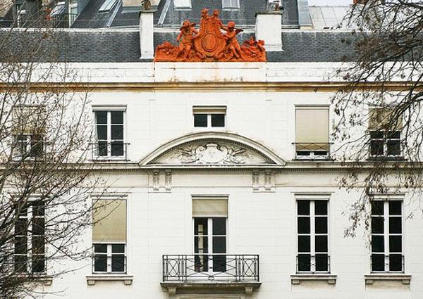 L'hôtel Antier : la façade sur le jardin