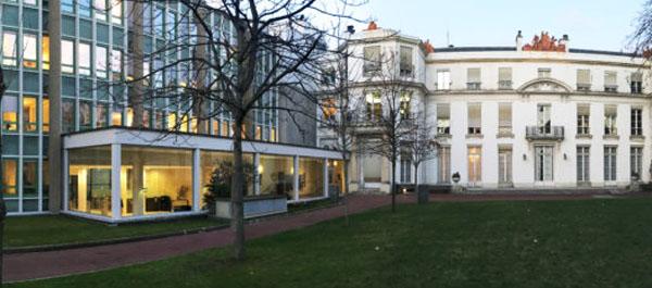 L'hôtel Antier : façade sur le parc