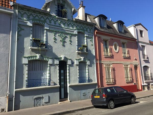 Les maisons de la rue Ernest et Henri Rousselle