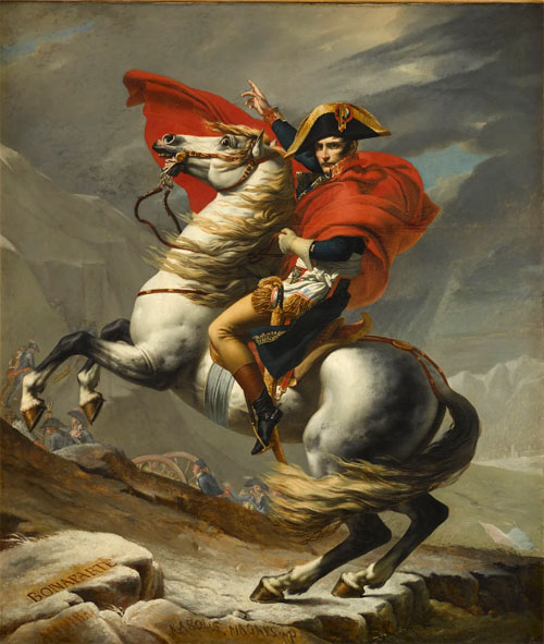 Jacques-Louis David, Bonaparte, Premier consul, franchissant le Grand-Saint-Bernard