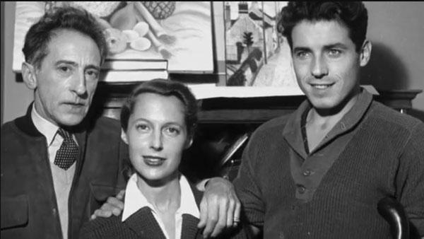 Jean Cocteau, Francine Weisweiller, Edouard Dermit (fils adoptif de Jean Cocteau)