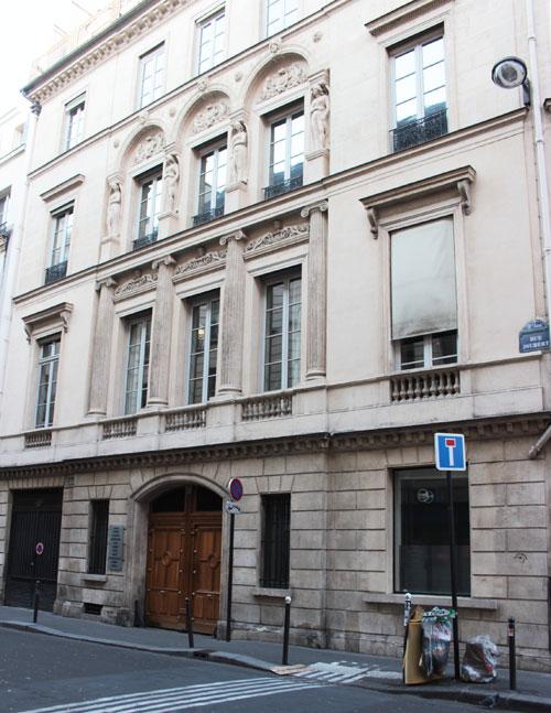 L'hôtel Bélanger : façade rue Joubert, état actuel