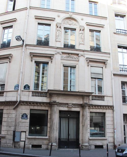 L'hôtel Bélanger : la façade rue de la Victoire ajoutée au XIXe siècle, état actuel