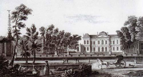 L'hôtel de Montmorency-Luxembourg - La façade sur le jardin vue du grand cours