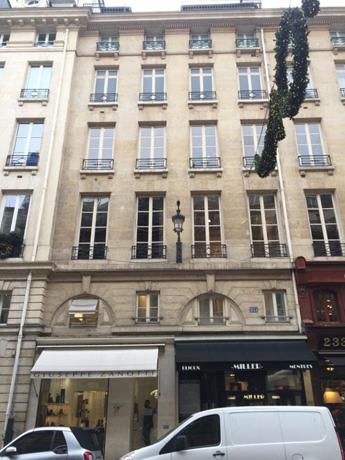 Immeuble locatif 233 rue Saint-Honoré