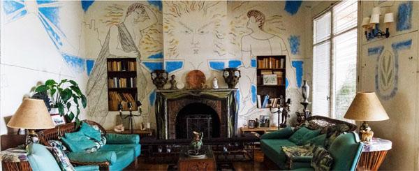 la Villa Santos Sospir recouverte de fresques de Jean Cocteau