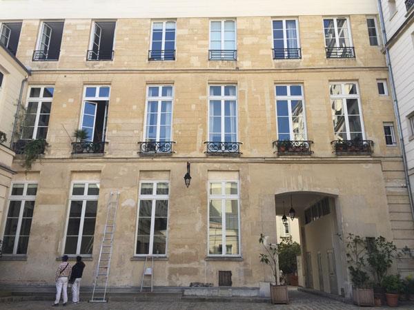 L'hôtel Dru de Montgelas : la façade arrière du logis, c'est la mieux conservée