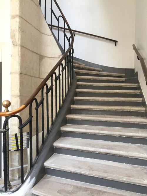L'hôtel Dru de Montgelas : l'un des escaliers
