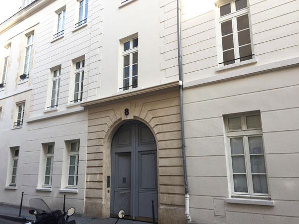 L'hôtel Dru de Montgelas : le bâtiment donnant sur la rue