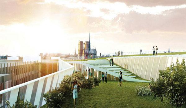 Paris Park : la vue depuis le toit végétalisé
