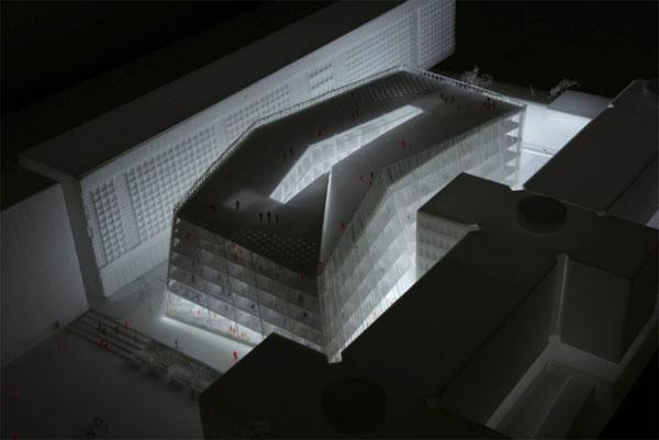 Paris Park : modélisation du bâtiment