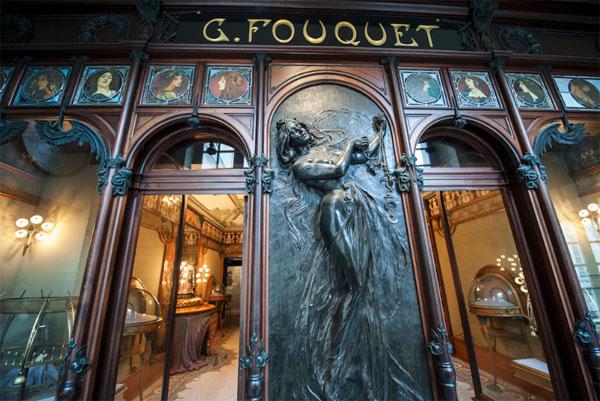 La bijouterie Fouquet décorée par Alphonse Mucha
